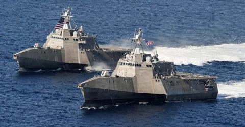 Tàu tuần duyên lớp LCS của Mỹ được trang bị tên lửa cực mạnh của Na Uy. Ảnh: Đất Việt