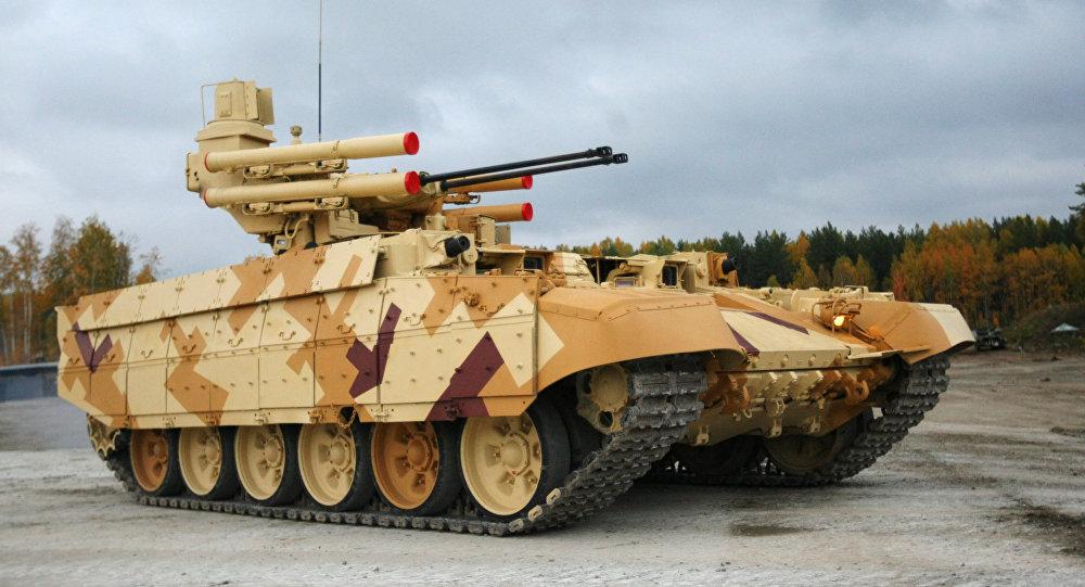 Xe tăng chiến đấu của Nga sẽ được trang bị loại đạn dược mới có ngòi nổ từ xa tiêu diệt mọi mục tiêu nhanh chóng. Ảnh: Sputnik
