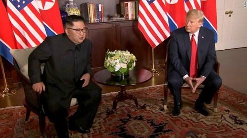 Thông cáo được hãng thông tấn Triều Tiên KCNA đăng tải, thượng đỉnh Mỹ và Triều Tiên sẽ trở thành sự kiện lịch sử và sự thay đổi sẽ tới. Ảnh: VOV