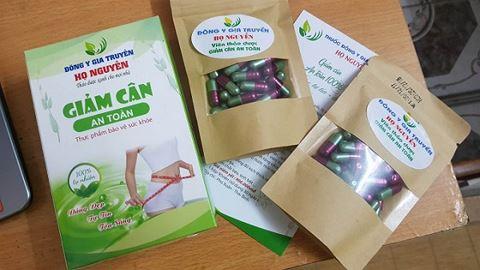 Sản phẩm giảm cân họ Nguyễn đang lưu hành trên thị trường. Ảnh: ANTĐ