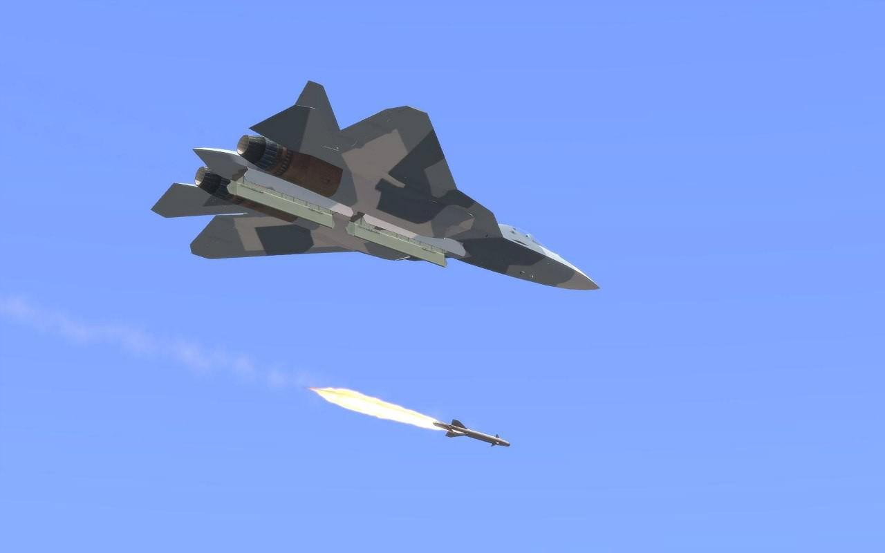 Máy bay Su-57 của Nga khai hỏa tên lửa tại chiến trường Syria. Ảnh minh họa