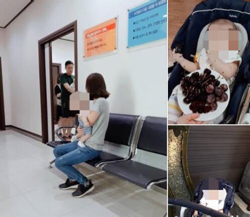Hình ảnh 2 mẹ con đến bệnh viện kiểm tra. Ảnh: Tài khoản facebook ''Hãy đợi đấy'' cung cấp