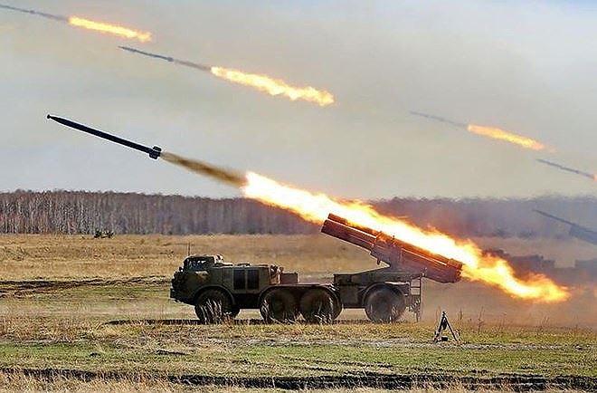 Pháo phản lực của Nga đang tham chiến tại Syria khiến phiến quân IS sức tàn lực kiệt. Ảnh: ANTĐ