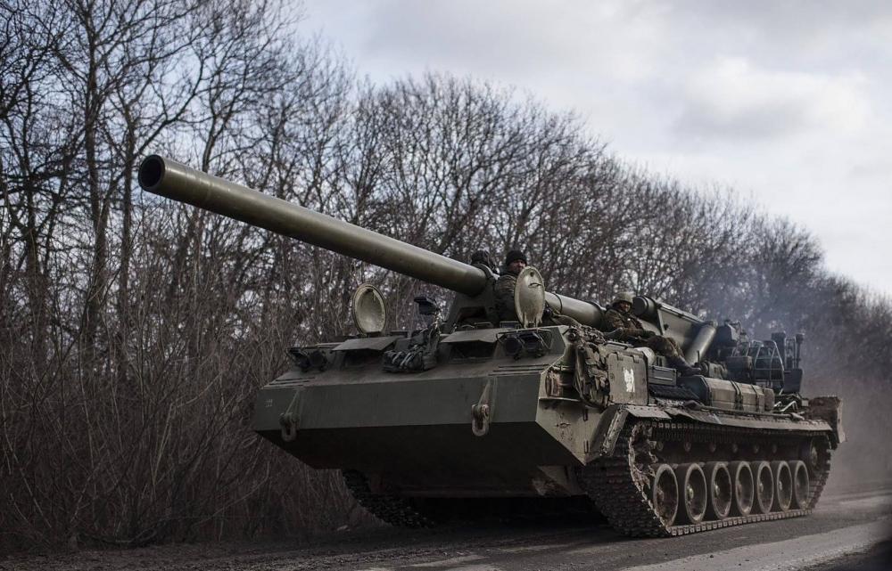 Pháo tự hành của Nga vừa được bắn thử rất có thể sẽ tới Syria thử lửa. Ảnh: VTC News