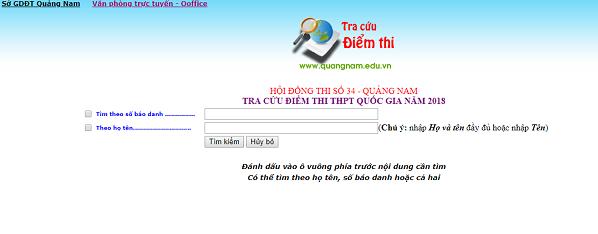 Cách tra cứu điểm thi THPT quốc gia tỉnh Quảng Nam nhanh và chính xác nhất tại đây. Ảnh: http://quangnam.edu.vn