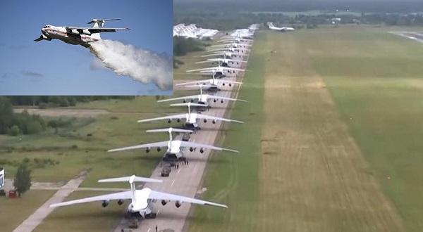 Máy bay vận tải siêu khủng của Nga khoe sức mạnh. Ảnh: ANTĐ