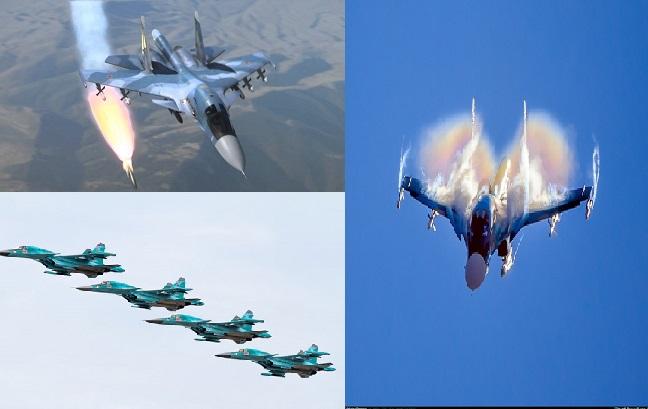 Máy bay ném bom Nga đang oanh tạc tại Syria khiến phiến quân IS nhốn nháo.