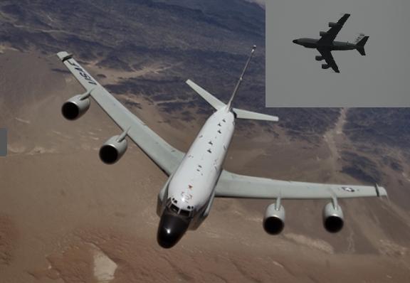 Máy bay trinh sát của Mỹ lờn vờn dọc bờ biển bán đảo Crimea gần Nga.