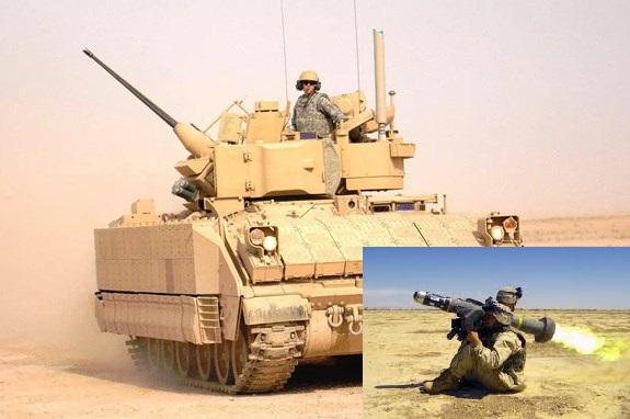 Tên lửa tích hợp vào xe chiến đấu giúp bộ đôi vũ khí này mạnh vô đối.
