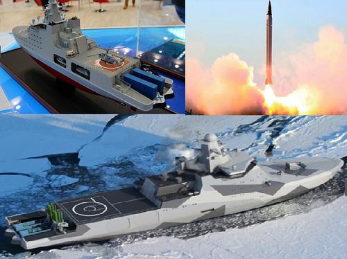Tàu phá băng Nga được tích hợp tên lửa khủng.