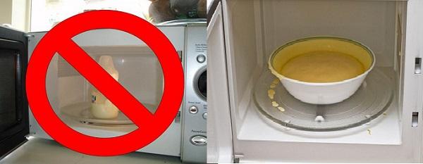 Cha mẹ không nên hâm nóng sữa, thức ăn trong lò vi sóng bằng đồ nhựa.