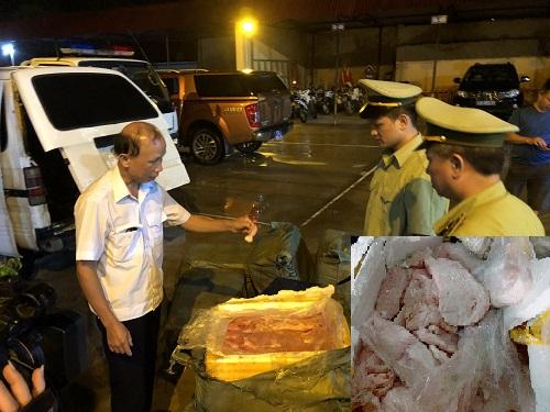 Nầm lợn nhập lậu được lực lượng quản lý thị trường Lạng Sơn thu giữ