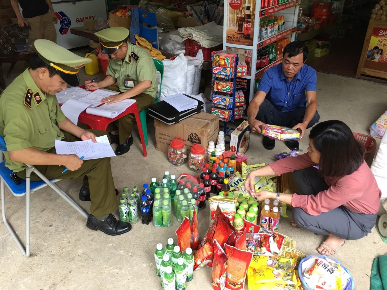 Số lượng hàng hóa vi phạm bị Đội Quản lý thị trường số 8 Lạng Sơn thu giữ
