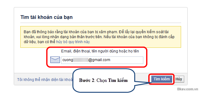 Bước 2 : Lựa chọn một trong những cách dưới đây, lấy mã qua email hoặc điện thoại