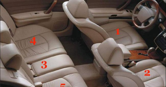 Vị trí số 3 mới là chỗ nguy hiểm nhất trên xe ô tô con