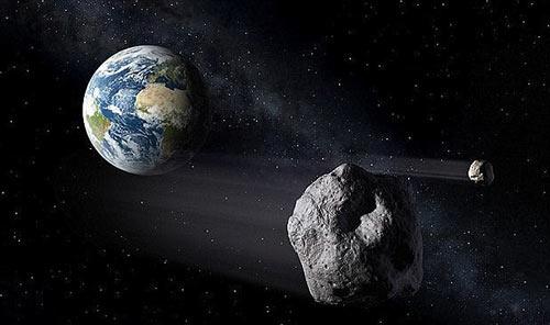 Thiên thạch2019 EA2đang tiến sát Trái đất. Ảnh minh họa