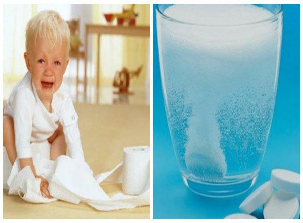 Dùng oresol điều trị tiêu chảy cho trẻ nên thận trọng