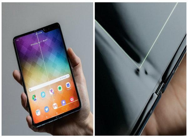 Điện thoại Samsung Galaxy Fold có dấu hiệu hư hỏng