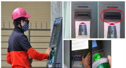 Người dân nên cảnh giác khi rút tiền ATM