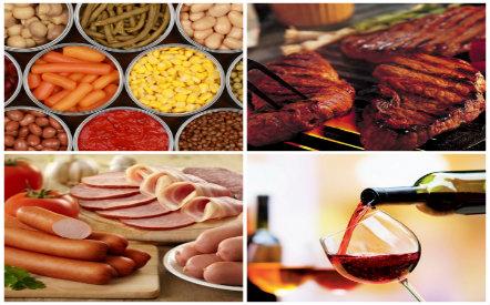 Nhiều loại thực phẩm có thể gây ung thư nếu ăn nhiều