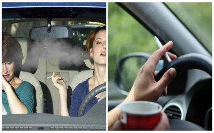 Hút thuốc lá trong xe ô tô dù mở cửa vẫn tác hại khó lường nhưng nhiều tài xế vẫn mắc