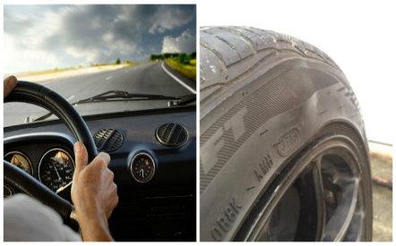 Lốp ô tô phồng rất nguy hiểm nếu tài xế chậm phát hiện