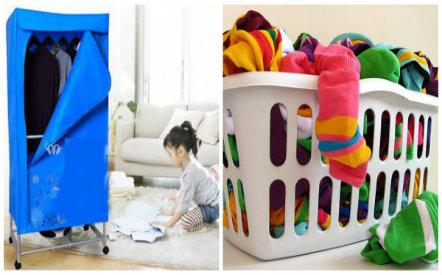 Nhiều bà nội trợ thường mắc sai lầm khi dùng máy sấy quần áo