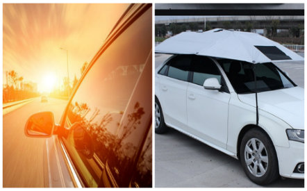 Nắng nóng nếu không che chắn ô tô cẩn thận rất dễ sốc nhiệt khi ra vào ô tô