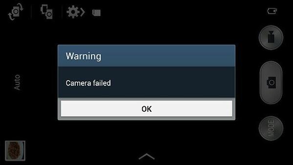 camera galaxy s5 dính lỗi