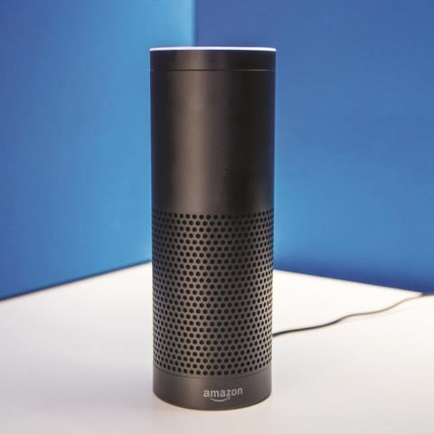 Loa không dây Amazon echo có thiết kế đơn giản