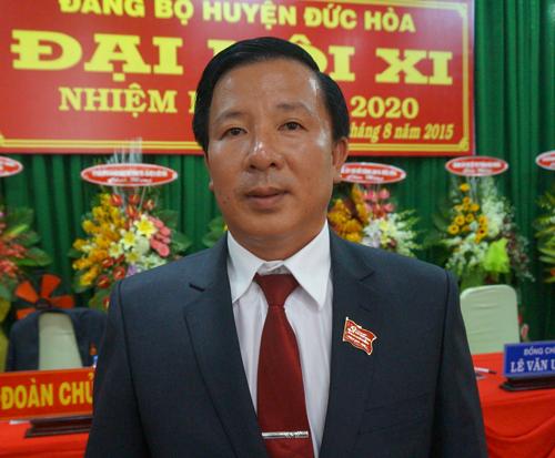 Ông Nguyễn Văn Út - Bí thư huyện ủy Đức Hòa, tỉnh Long An bị kẻ lạ đột nhập nhà riêng