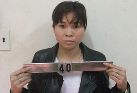 Đối tượng lừa đảo xuất khẩu lao động Phạm Thi Duyên tại cơ quan công an