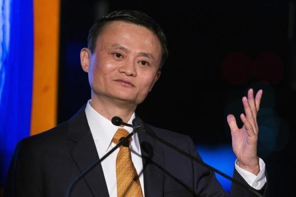 Jack Ma cho biết tập đoàn Alibaba có khả năng sẽ hợp tác thanh toán điện tử với Apple. Ảnh Reuters