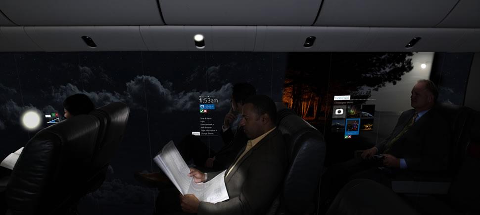 Màn hình OLED sẽ cung cấp những khung cảnh độc đáo và góc nhìn thú vị cho hành khách trên máy bay