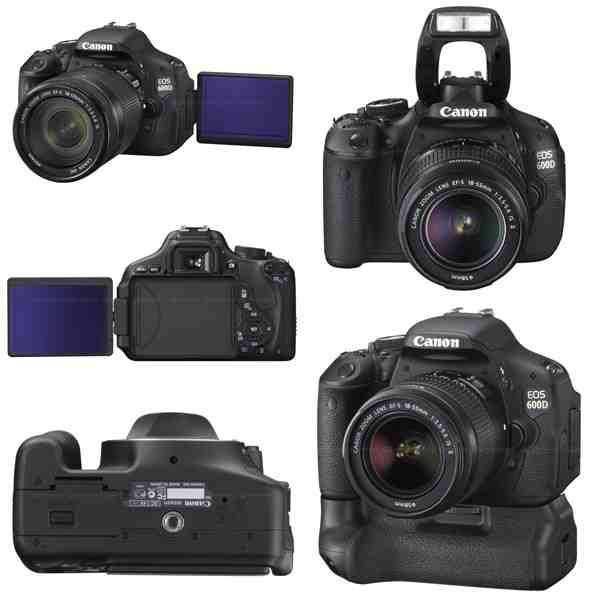 Máy ảnh giá rẻ Canon EOS 600D đẹp mọi góc nhìn