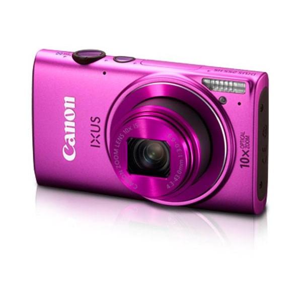 Máy ảnh giá rẻ Canon Ixus 255 sở hữu màu hồng đẹp mắt, phù hợp với các cô nàng điệu đà