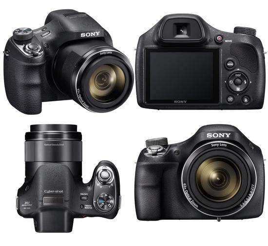 Máy ảnh Sony DSC H400 đẹp dưới mọi góc nhìn
