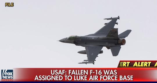 Truyền thông Mỹ đưa tin về vụ tai nạn máy bay rơi khiến phi công điều khiển tiêm kích F-16 mất tích