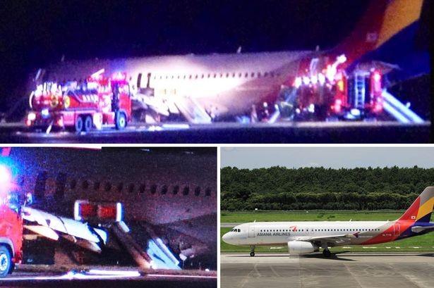 Hiện trường vụ máy bay gặp nạn của hãng hàng không Asiana tại Nhật Bản