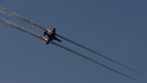 Cường kích Su-25 tấn công mục tiêu