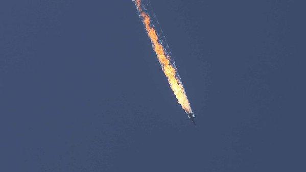 Máy bay sau đó đã lao xuống đất
