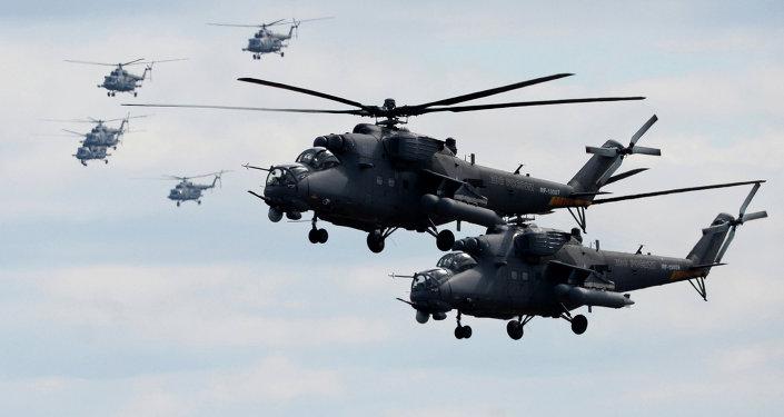 """""""Người tiền nhiệm"""" của Mi-35MS là trực thăng tấn công Mi-35M được thiết kế để tiêu diệt xe bọc thép, cung cấp hỗ trợ tấn công cho các lực lượng mặt đất."""