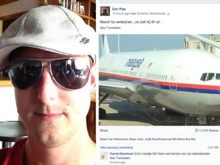Trước giờ bay, hành khách này đã nói vài lời bông đùa nhưng cuối cùng nó đã trở thành hiện thực