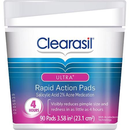 Miếng rửa mặt Clearasil có thể xóa tan những nhân mụn