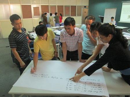 Viện Năng suất Việt Nam phối hợp với các chuyên gia tư vấn, tổ chức khóa đào tạo Nâng cao kỹ năng quản lý cho tổ trưởng.