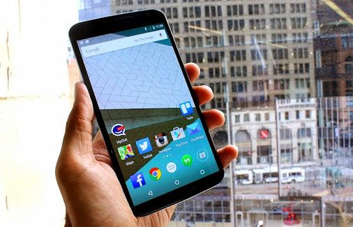Nexus 6 chạy trên nền tảng Lollipop 5.0