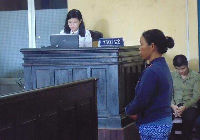 Nguyễn Thị Phượng tại phiên tòa phúc thẩm