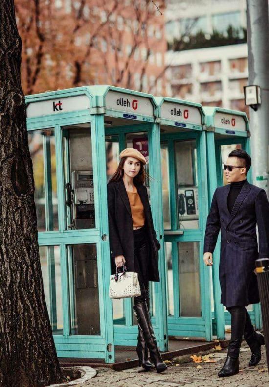 Ngọc Trinh công khai 'hẹn hò' ông bầu Vũ Khắc Tiệp tại Seoul