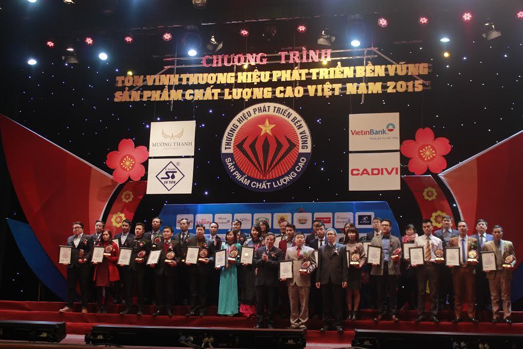Tôn vinh sản phẩm chất lượng cao Việt Nam 2015