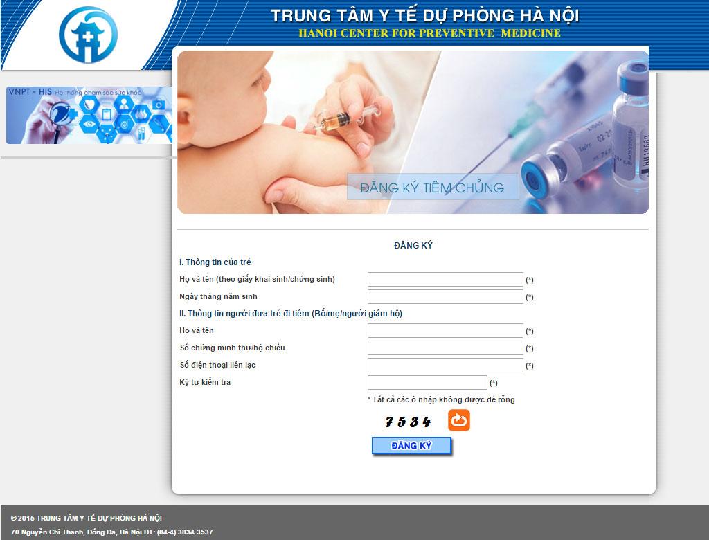 Cách đăng ký tiêm vắc xin 5 trong 1 tại Hà Nội
